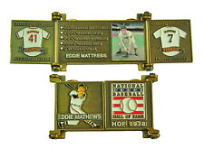1978 Eddie Mathews Cooperstown MLB HOF Bronze Door Pin in Display Box - Braves