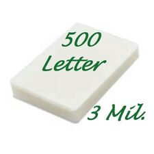 500 Letter 3 Mil Laminating Pouches Laminator Sheets 9 x 11-1/2 Scotch Quality