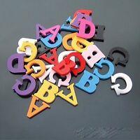 LETTRE 3D EN BOIS COULEURS ALEATOIRES TAILLE 2cm DECORATION SCRAPBOOKING déco