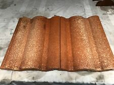 BORAL MONIER STYLE LIGHT WEIGHT ROOFING TILES. ORANGE WITH SPLASH. DOUBLE LOCK.