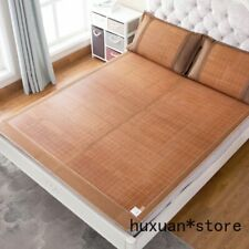 Sleeping Bamboo Mat for Summer Cool Feeling Double Faces for Twin Full Queen Bed