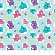 Care Bear Sparkle & Shine - Arrows in Blue Cotton Fabric By The Yard