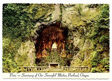 Pieta Sanctuary Sorrowful Mother Portland Oregon Postcard Grotto Shrine #2