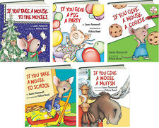 If You Give a Mouse a Cookie,Moose Muffin ++ by Laura Numeroff (5 Hardcovers)