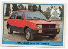figurina SUPER AUTO PANINI REC. NUMERO 126 INNOCENTI Mini De Tomaso