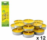 Tealight Citronella  Candles Anti Mosquito Insect Fly Insect Repellent Outdoors
