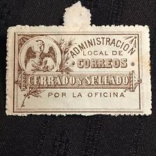 Ca 1880's Mexico Local Post Postage Stamp Unused