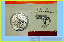 2003 $1 Kangaroo Silver Frosted Uncirculated 1 oz. Coin
