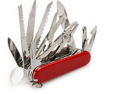 Red SWISS Pocket Knife Folding Multi-Use Tool Camping Survival 31-use Gifts