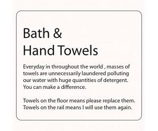 Hotel Bathroom Information Sticker Bath &  Hand Towels S/A PACK OF 5