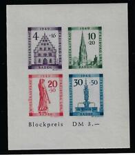 Baden Block 1 B Plattenfehler V ** 300 M€ nur 15% Michel !!