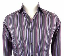 St Croix Large Shirt Button Up Long Sleeve Striped Multi Color Cotton Made Italy