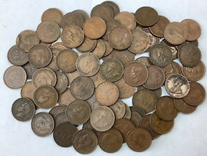 Australia Half Penny Lot X82 Antique And Modern Copper Coins #N22