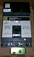 Square D FC34020 240/480V 20A Circuit Breaker in Excellent Condition
