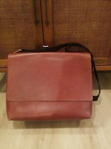 Jack Spade Brown Bridle Leather Messenger Bag, Unlined Bag, Rare, NWD