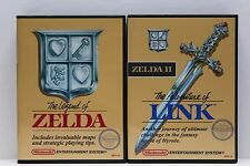 The Legend of Zelda 1 & 2 Adventures of Link - NES Custom Cases Set - NO GAMES