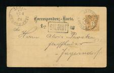 2 Kreuzer Ganzsachen-Karte 1889 aus Jägerndorf Bahnhof  (T6)