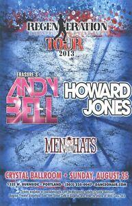ANDY BELL HOWARD JONES MEN WITHOUT HATS Concert Poster Portland 2013 - ORIGINAL