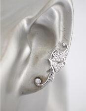 925 Sterling Silver CZ Butterfly Climber Crawler Hook Earrings A1674