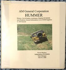 1992-2000 AM GENERAL HUMMER H1 PARTS MANAGER BINDER UTILITY FIRE TRUCK OEM BOOKS