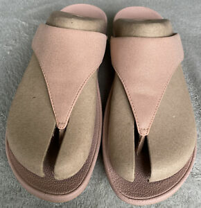 Fitflop Lulu Shimmer Rose Gold Size 6  - Worn Once