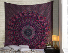 Indian Rajasthani Ghoomar Style Wall Hanging Tapestry Twin Size Bedspread Decor