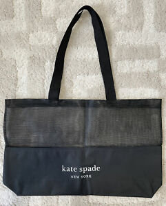 New  Kate Spade Canvas black extra large Tote Bag