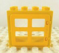 Lego Duplo Window Frame w/ pane yellow w/ yellow