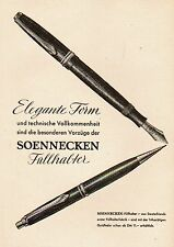 1953 soennecken pluma estilográfica elegante forma 13x18 cm original medios impresos