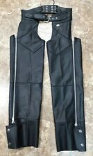 Harley Davidson Womens Genuine Leather Chaps Small Excellent
