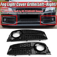 Front Standard Bumper Fog Light Cover Grille Grill For Audi A4 B8 2009-2011 HL