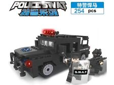Police SWAT Series Hummer Weapons uniforms  Fit Lego Building Blocks Toys