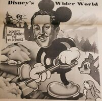 Vtg Anti Disney Newspaper Advert Wilderness War Mineral King Environment UCSB