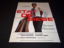 ETAT DE SIEGE yves montand costa-gavras    affiche  cinema 1972