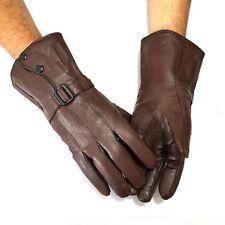 lange Echt Leder Herren Handschuhe Lederhandschuhe Winter Herrenhandschuhe