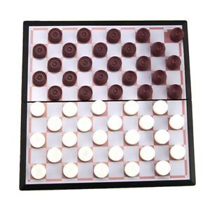 Antique 50 Pieces Magnetic Chessboard Draughts Checkers Competition Game Toy
