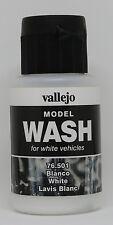 Vallejo #76201 Acrylic Model Wash Colours White 35ml Bottle