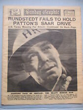 SUNDAY GRAPHIC NEWSPAPER WWII DECEMBER 10, 1944 LONDON