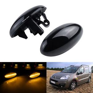 Dynamique LED Clignotants Répétiteur Pour Peugeot 206 107 307 407 Expert Partner