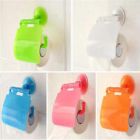 1pcs Wall Mounted Plastic Suction Bathroom Toilet Paper Roll Holder With Cover