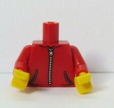 LEGO Body Torso For Boy Girl  Minifigure Red Zipped Jacket Pockets