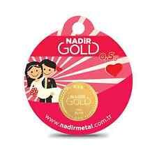 Round bars 0,5 gram, gold Bullion, Wedding, Henna Night Gift, like ALTiN Ceyrek