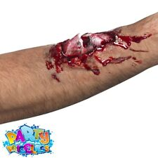 Halloween Fake Scar Wounds Blood Gore Latex Make Up Kit Zombie Fancy Dress