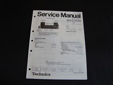 ORIGINALI service manual TECHNICS se-ch550