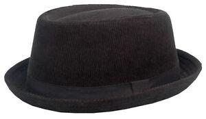 Cool4 CORD PORK PIE HUT SKA Porkpie Hat Rocky Breaking Bad Gene Hackman E24