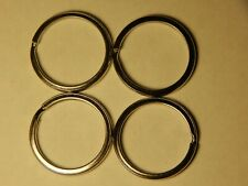 4 New Pcs Stainless Steel Split Key Chains Lot. OR buy 3 sets and get 20 rings