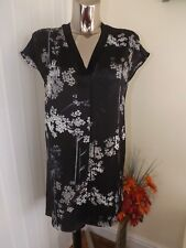 NEXT BLACK GREY MIX SHIFT DRESS SIZE 8 LADIES BNWT RP £40