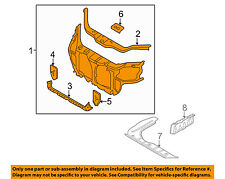 KIA OEM 06-11 Rio-Radiator Core Support Bracket Panel 641011G001