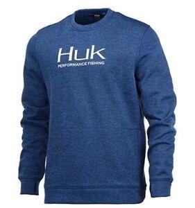 Huk Men's Hull Crew Performance Fishing Fleece
