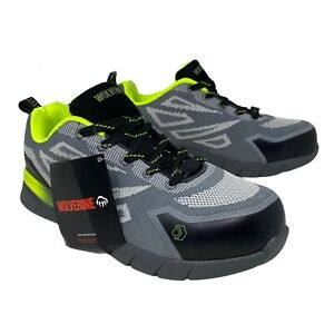 Wolverine Men's 7 Jetstream 2 Slip Resistant Shoe Composite Toe W10805 F2413 11